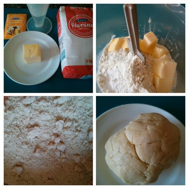 Fent la massa de la pasta trencada