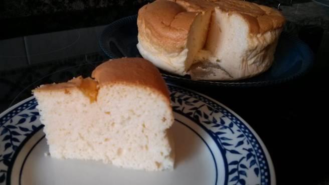 Pastís de formatge japonès, al plat