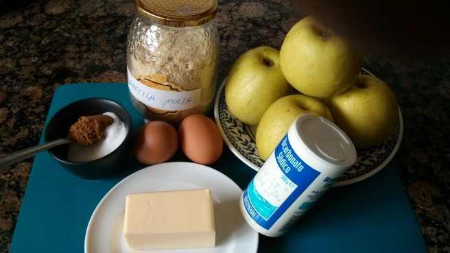 "Pastís de poma ""gluten free"",els ingredients"