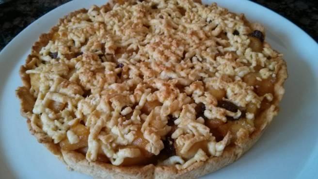 Pastís de pomes caramelitzades, cuit