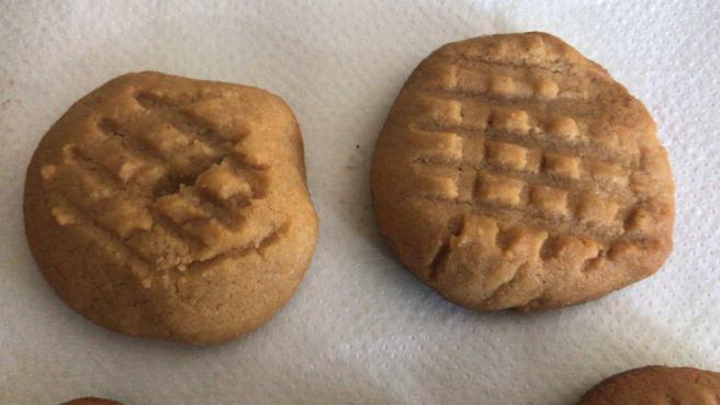 Les galetes de mantega de cacauet sense farina