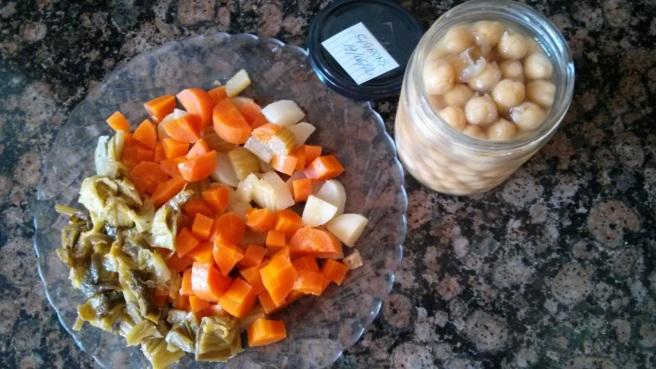 Les verdures i els cigrons