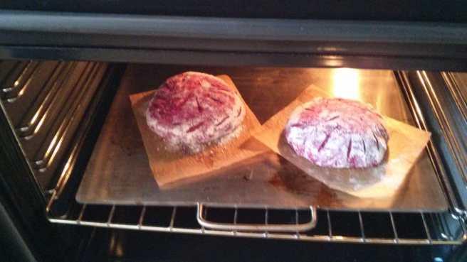 Panets de remolatxa al forn