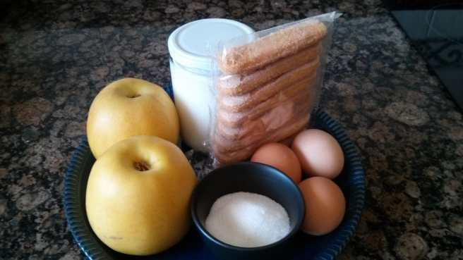 Púding de pomes caramel·litzades, ingredients