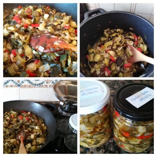 Verdures amb kombu. Collage